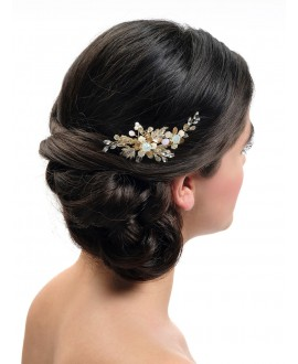 Poirier Bridal Haircomb BB-439 Gold
