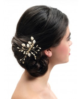 Poirier Bridal Haircomb BB-444 Gold