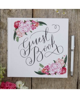 Floral Guest Book - Boho