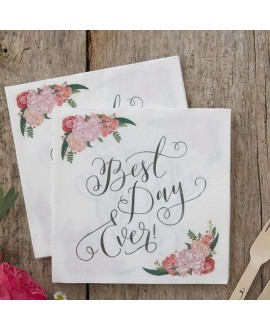 Best Day Ever Paper Napkins - Boho