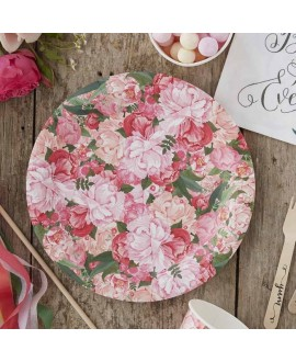 Floral Paper Plates - Boho
