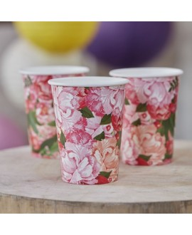 Floral Paper Cups - Boho