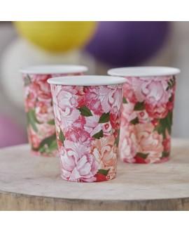 Floral Paper Cups - Boho