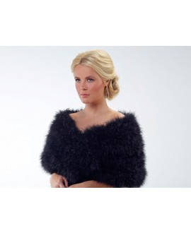 Marabou Stole BOL-05- Poirier (also in ivory)