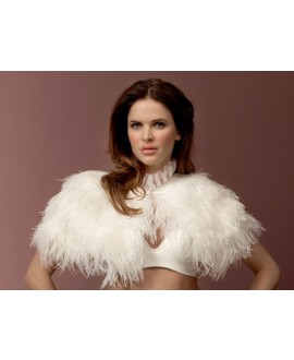 Ostrich feather Cape BOL-12 - Poirier