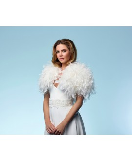Duck- and ostrich feather bolero  (BOL-23), Poirier