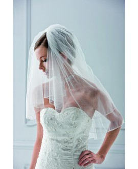 Veil 10033-White-two layers - 100 cm | Emmerling