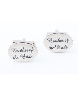 Silver wedding role cufflinks set Brother of the Bride