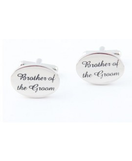 Silver wedding role cufflinks set Brother of the Groom