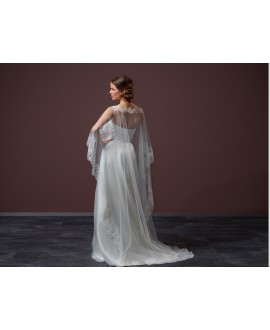 Long soft tulle Cape C90-200, Poirier