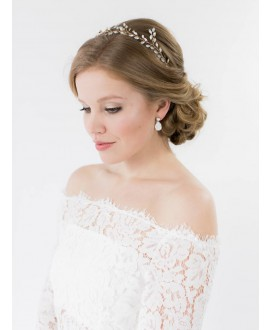 Louise | Bridal Earrings - Abrazi O6-OVL-SKT Opal