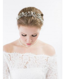Abrazi Bridal Headband HB-PCR-G