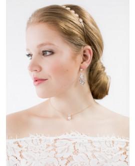 Abrazi Bridal Necklace KC-BC-3P-Rose