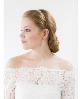 Scarlett | Bridal Earrings - Abrazi O6-RND-SKT Rose