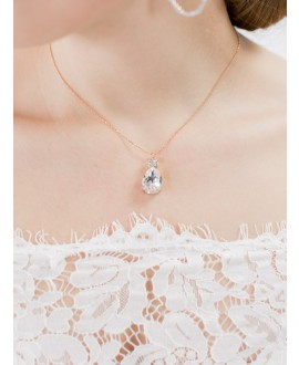 Abrazi Bridal Necklace KC-BC-OVL Rose