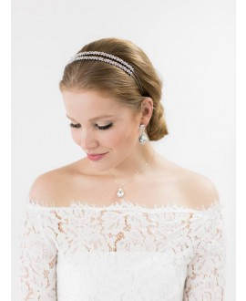 Silke | Bridal Necklace - Abrazi KC-BC-OVL