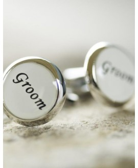 Cufflinks for the groom (white)