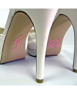 I DO bridal shoe sticker Pink