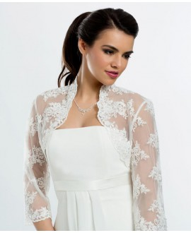 Bianco Evento Lace jacket E106