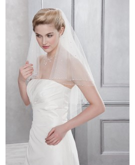 Veil 10081-White-two layers - 120 cm | Emmerling