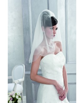 Veil 10083-Ivory-one layer - 150 x 65 cm | Emmerling