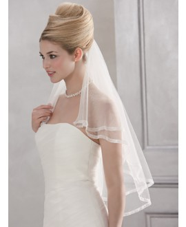 Veil 10084-Ivory-two layers - 100 cm | Emmerling