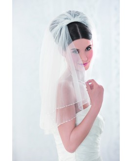 Veil 10086-Ivory-two layers - 100 cm | Emmerling