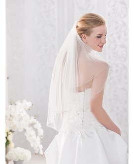 Veil 10087-Ivory-two layers - 100 cm | Emmerling