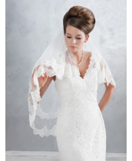 Veil 2832-Ivory-two layers - 100 cm (70/30) | Emmerling