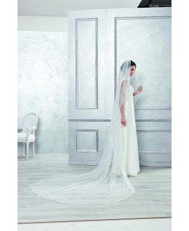 Veil 4052-Ivory-two layers - 200 x 400 cm | Emmerling