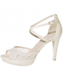 Fiarucci Bridal Wedding Shoes Keshia Perle Lace/ Leather