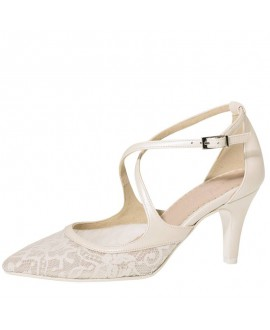 Fiarucci Bridal Wedding Shoes Mariella Perle Lace Leather
