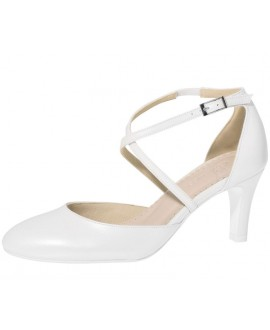 Fiarucci Bridal Wedding Shoes Merlinde White Leather
