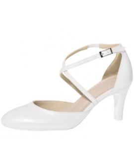Fiarucci Bridal Wedding Shoes Merlinde White Leather