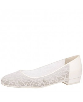 Fiarucci Bridal Wedding Shoes Pascalle Perle Lace Leather