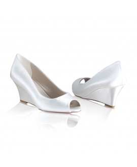 Bridal Wedge Flora Satin | The Perfect Bridal Company
