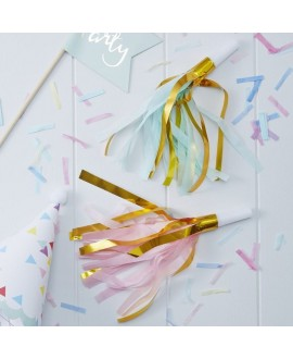 Gold Foil & Pastel Party Horns - Pick And Mix