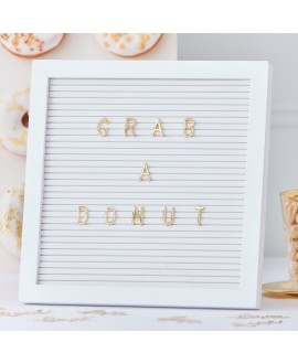 Gold Wedding Peg board gold letters | Ginger Ray