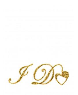 I DO bridal shoe sticker gold