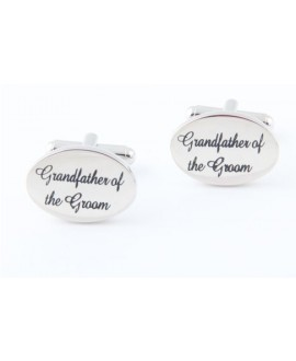 Silver wedding role cufflinks set Grandfather of the Groom