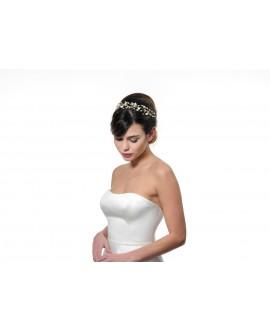 Poirier Bridal Headband BB-657 Gold