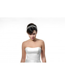Poirier Bridal Headband BB-657 Silver
