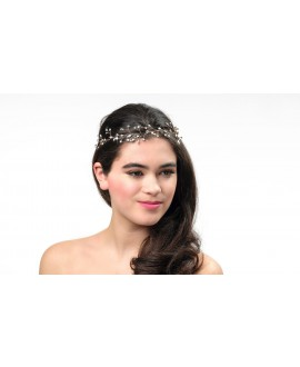 Poirier Bridal Headband BB-658 Rose