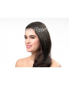 Poirier Bridal Headband BB-658 Silver