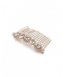 Abrazi Bridal Haircomb H3-RND Rose