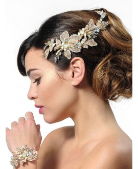 Poirier Bridal Haircomb BB-437 Rose