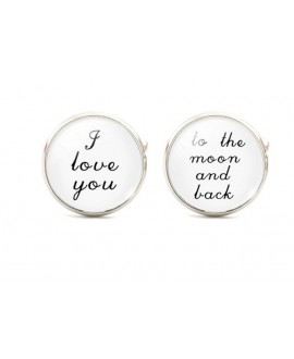 I love you - to the moon and back - cufflinks