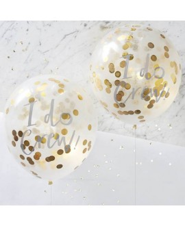I Do Crew! Confetti Balloons Gold (5pcs)