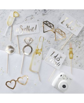 I Do Crew! Party Props Gold-Foiled (10pcs)