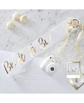I Do Crew! White and Gold Foiled Bride to be Sash